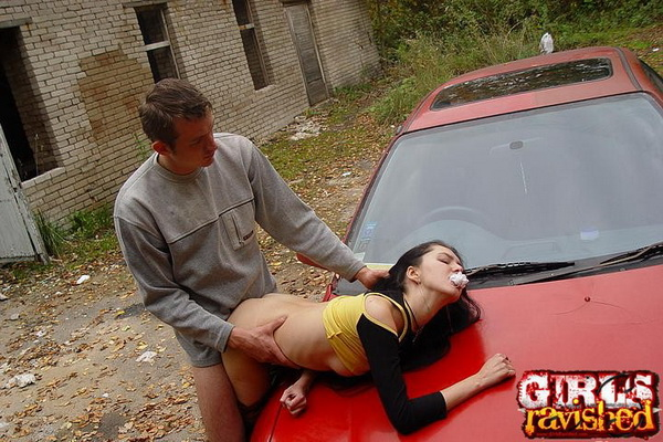 teen getting forced outdoor fucked