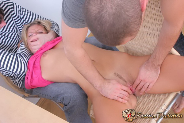 Preparing unwilling ho's pussy
